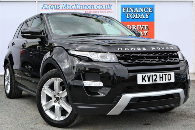 2012 12 LAND ROVER RANGE ROVER EVOQUE 2.2 SD4 DYNAMIC LUX Great High Spec 4x4 AUTO 5dr Family SUV in Black