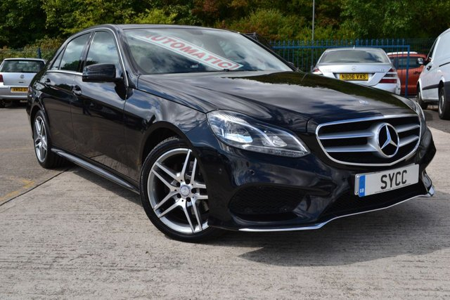 USED 2013 63 MERCEDES-BENZ E CLASS 2.1 E220 CDI AMG SPORT Plus 4d AUTO 168 BHP APS COMMAND ~ HEATED SEATS ~ AMG ALLOYS