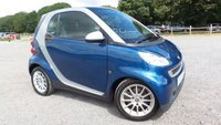 2009 SMART FORTWO 1.0 PASSION MHD 2d AUTO 71 BHP £3500.00