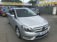 2012 MERCEDES-BENZ B CLASS 1.8 B180 CDI BLUEEFFICIENCY SPORT 5 DOOR AUTO 109 BHP IN SILVER WITH BLACK LEATHER AND ONLY 31000 MILES £10499.00
