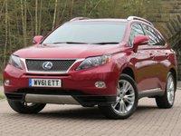 2011 LEXUS RX 3.5 450H SE-I 5d 249 BHP £13944.00