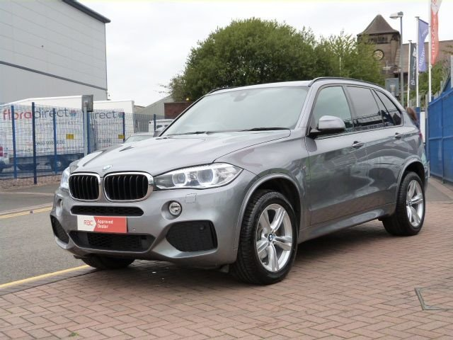 USED 2014 14 BMW X5 20 SDRIVE25D M SPORT 5d AUTO BLACK HEATED LEATHER WITH MEMORY