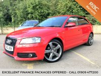 2012 AUDI A3 2.0 SPORTBACK TDI S LINE BLACK EDITION 5d HALF LEATHER, BOSE £8490.00