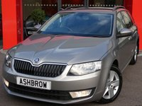 USED 2014 14 SKODA OCTAVIA ESTATE 2.0 TDI CR SE 5d 150 S/S DAB RADIO, BLUETOOTH PHONE & MUSIC STREAMING, REAR PARKING SENSORS WITH DISPLAY (PARK PILOT), AUX & USB INPUTS, 6 INCH 5 SPOKE ALLOYS, BLACK ROOF RAILS, REAR MUD FLAPS, GREY CLOTH INTERIOR, DRIVING MODE SELECTION,  LEATHER MULTIFUNCTION STEERING WHEEL, TYRE PRESSURE MONITORING SYSTEM, 1 OWNER FROM NEW, FULL SERVICE HISTORY, £20 ROAD TAX (110 G/KM)