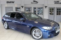USED 2015 65 BMW 5 SERIES 2.0 520D M SPORT TOURING 5d AUTO 188 BHP FULL BLACK LEATHER SEATS + SATELLITE NAVIGATION + XENON HEADLIGHTS + BLUETOOTH + HEATED FRONT SEATS + DAB RADIO + 18 INCH ALLOYS + PARKING SENSORS