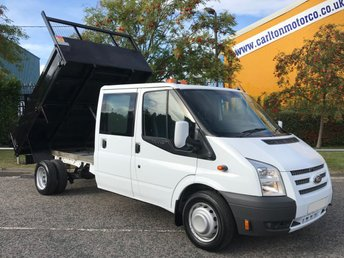 2014 FORD TRANSIT 2.2TDCi 100 T350 LWB D/CAB TIPPER / TOOLSTORE DRW FREE UK DELIVERY £9950.00