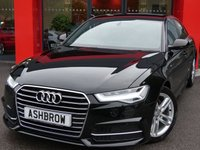 USED 2016 16 AUDI A6 SALOON 2.0 TDI ULTRA S LINE 4d AUTO 190 S/S SAT NAV, FULL BLACK LEATHER, DAB RADIO, BLUETOOTH PHONE & MUSIC STREAMING, AUDI MUSIC INTERFACE (AMI), FRONT & REAR PARKING SENSORS, LED LIGHTS, 18 INCH TWIN 5 SPOKE ALLOYS, CRUISE CONTROL, SPORT SEATS WITH ELECTRIC LUMBAR SUPPORT, LIGHT & RAIN SENSORS WITH AUTO DIMMING REAR VIEW MIRROR, AUTO HOLD, LEATHER MULTIFUNCTION TIPTRONIC STEERING WHEEL (PADDLE SHIFT), 4 ZONE ELECTRONIC CLIMATE CONTROL, AUDI DRIVE SELECT, 1 OWNER, FULL AUDI SERVICE HISTORY, BALANCE OF AUDI WARRANTY, £20 ROAD TAX
