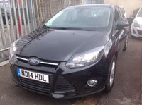 USED 2014 14 FORD FOCUS 1.6 ZETEC TDCI 5d 113 BHP Fantastic economy, low road tax, great value family hatchback.