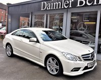 2011 MERCEDES-BENZ E CLASS 2.1 E220 CDI BLUEEFFICIENCY SPORT 2d AUTO 170 BHP £12495.00