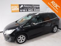 USED 2012 12 FORD GRAND C-MAX 2.0 ZETEC TDCI 5d 138 BHP OWNER WITH FULL SERVICE HISTORY FINISHED IN GLEAMING BLACK METALLIC GREAT FAMILY CAR WITH SEVEN SEATS AND REAR TABLES, FRONT FOG LAMPS, BRUSHED ALLOY ROOF RAILS,VOICE COMMAND BLUETOOTH PHONE PREP, MULTI FUNCTION STEERING WHEEL, AUX USB, ELEC MIRRORS, ELEC FRONT AND REAR WINDOWS, ICE COLD AIR CON   for more Information Please Call Now on 0151525 4400,  07967141248. Family Run Business Since 1990