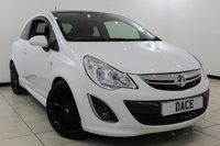 USED 2012 12 VAUXHALL CORSA 1.2 LIMITED EDITION 3DR 83 BHP SERVICE HISTORY + SAT NAVIGATION + CRUISE CONTROL + MULTI FUNCTION WHEEL + AIR CONDITIONING + ELECTRIC WINDOWS + 17 INCH ALLOY WHEELS