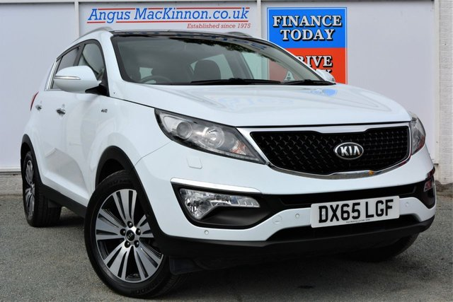 2015 65 KIA SPORTAGE 2.0 CRDI KX-4 Incredible High Spec 4x4 AUTO SUV Looks Fantastic in White
