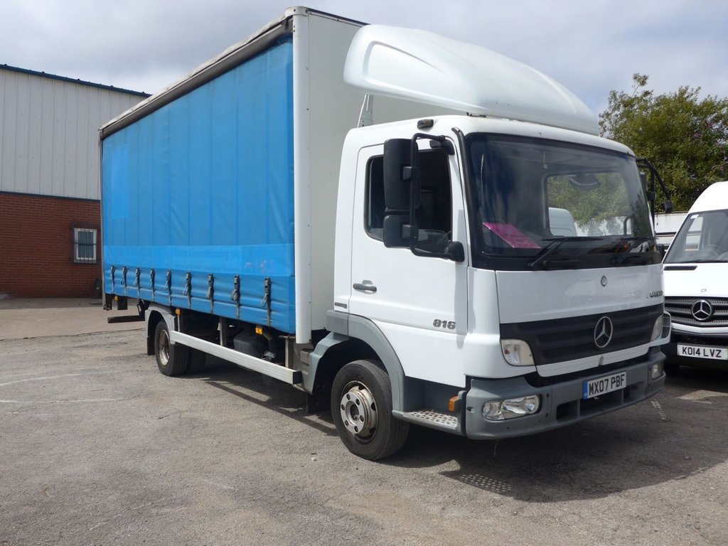 USED 2007 07 MERCEDES-BENZ ATEGO 4.3 815 DAY CURTAIN SIDER WITH TAILIFT,  150 ...