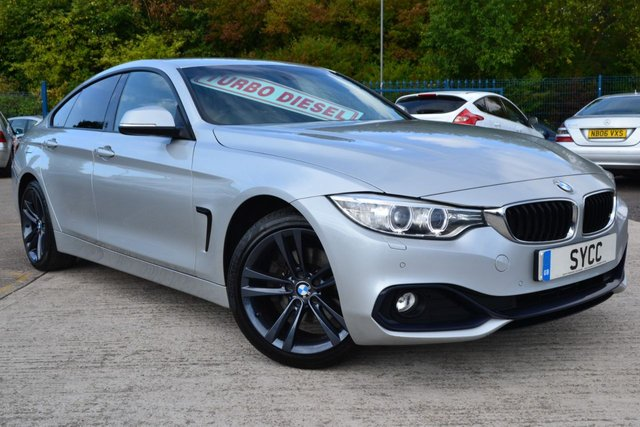USED 2015 P BMW 4 SERIES 2.0 420D SPORT GRAN COUPE 4d AUTO 181 BHP HEATED BLACK LEATHER WITH MEMORY ~ SAT NAV ~ 6 MONTHS WARRANTY & RECOVERY
