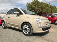2015 FIAT 500 1.2 LOUNGE 3d, ONE LADY OWNER WITH 3 SERVICE STAMPS  £6000.00