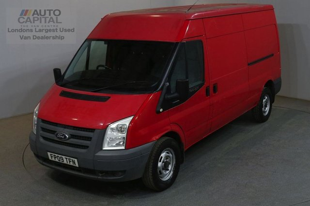 2009 09 FORD TRANSIT 2.4 350 100 BHP L3H2 LWB M/ROOF AIR CON MANUAL VAN NO VAT