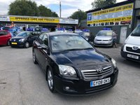 2008 TOYOTA AVENSIS 2.2 T180 D-4D 4d 175 BHP IN BLACK WITH ONLY 78000 MILES AND ONLY 2 OWNERS. £2999.00