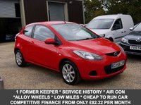 USED 2008 58 MAZDA 2 1.3 TS2 3 Door Hatchback In Red With Alloys