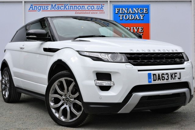 2013 63 LAND ROVER RANGE ROVER EVOQUE 2.2 SD4 DYNAMIC 4x4 AUTO Lovely High Spec 3dr Looks Stunning in White