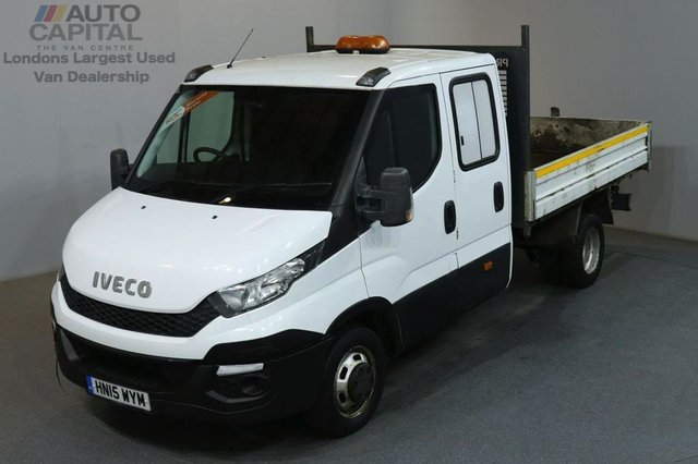 2015 15 IVECO-FORD DAILY 2.3 35C13D 126 BHP LWB D/CAB TWIN WHEEL TIPPER ONE OWNER SPARE KEY