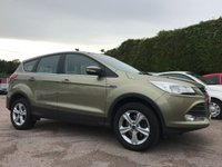 2015 FORD KUGA 2.0 TDCI ZETEC 150BHP 5d  AND ONLY ONE OWNER FROM NEW  £10250.00
