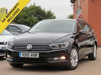 USED 2015 15 VOLKSWAGEN PASSAT 2.0 SE BUSINESS TDI BLUEMOTION TECHNOLOGY 5d 148 BHP SATELLITE NAVIGATION + FULL VW SERVICE HISTORY