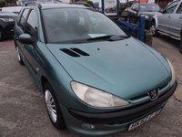 2002 PEUGEOT 206 1.4 SW XT 5d 74 BHP £1495.00
