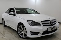 USED 2015 15 MERCEDES-BENZ C CLASS 2.1 C220 CDI AMG SPORT EDITION PREMIUM 2DR 168 BHP MERCEDES SERVICE HISTORY + HEATED HALF LEATHER SEATS + SAT NAVIGATION + REVERSE CAMERA + BLUETOOTH + CRUISE CONTROL + PARKING SENSOR + CLIMATE CONTROL + 18 INCH ALLOY WHEELS