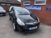 USED 2012 12 VAUXHALL CORSA 1.2 ACTIVE AC 3d 83 BHP ONE OWNER