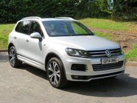 USED 2014 14 VOLKSWAGEN TOUAREG 3.0 V6 R-LINE TDI BLUEMOTION TECHNOLOGY 5d AUTO 242 BHP PANORAMIC ROOF! IMMACULATE CAR!
