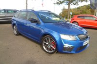 USED 2014 14 SKODA OCTAVIA 2.0 VRS TDI CR 5d 181 BHP FULL SERVICE HISTORY, £30 TAX, BLUETOOTH, CRUISE CONTROL