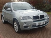USED 2010 10 BMW X5 3.0 XDRIVE30D M SPORT 5d AUTO 232 BHP NAVIGATION SYSTEM + M SPORT + LEATHER TRIM + 20 INCH ALLOYS + SERVICE RECORD + 7 SEATS +