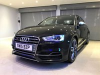 USED 2015 15 AUDI A3 2.0 S3 QUATTRO 4d 296 BHP FULL HEATED LEATHER SEATS + SATELLITE NAVIGATION + PARKING SENSORS