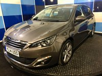 "USED 2014 14 PEUGEOT 308 1.2 E-THP ALLURE 5d 130 BHP A stunning example of this very highly regarded family hatchback finished in a very appealing metalic grey/bronze paintwork further enhanced with 17"" two tone alloys .This car comes fully loaded with dab radio with usb and aux imputs,dual zone climate control,cruise control /speed limiter,tyre pressure monitoring system ,front and rear parking sensors with reversing camera, touch screen satelite navigation,bluetooth ,power fold mirrors .Road tax of only £20, combined mpg of 58.9,drives superbly."