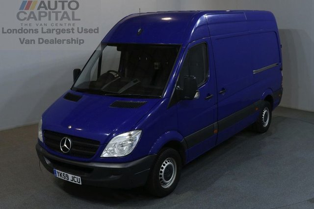 2009 59 MERCEDES-BENZ SPRINTER 2.1 313 CDI MWB 5d 129 BHP H/ROOF RWD DIESEL MANUAL VAN AIR CONDITIONING / BLUETOOTH
