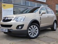USED 2013 63 VAUXHALL ANTARA 2.2 EXCLUSIV CDTI S/S 5d 161 BHP VERY LOW MILEAGE WITH SERVICE HISTORY