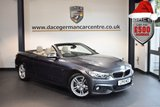 USED 2015 15 BMW 4 SERIES 3.0 430D M SPORT 2DR AUTO 255 BHP full service history sat nav full leather MINERAL METALLIC GREY WITH FULL OYSTER LEATHER INTERIOR + FULL SERVICE HISTORY + PRO SATELLITE NAVIGATION + XENON LIGHTS + BLUETOOTH + HEATED SPORT SEATS + CRUISE CONTROL + DAB RADIO + PARKING SENSORS + 18 INCH ALLOY WHEELS
