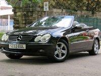 2004 MERCEDES-BENZ CLK 3.2 CLK320 AVANTGARDE 2d 218 BHP £2944.00
