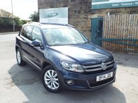 USED 2014 14 VOLKSWAGEN TIGUAN 2.0 MATCH TDI BLUEMOTION TECHNOLOGY 5d 139 BHP SAT NAV++++FULL Service History+++One Keeper