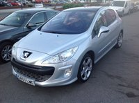 USED 2007 57 PEUGEOT 308 2.0 GT HDI 5d 135 BHP Diesel, Gt, 135 BHP, half leather, alloys, superb.