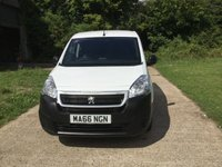 USED 2016 66 PEUGEOT PARTNER 1.6 BLUE HDI PROFESSIONAL L1 1d 100 BHP EURO 6, HIGH SPEC, PEUGEOT WARRANTY UNTIL NOV 2019,