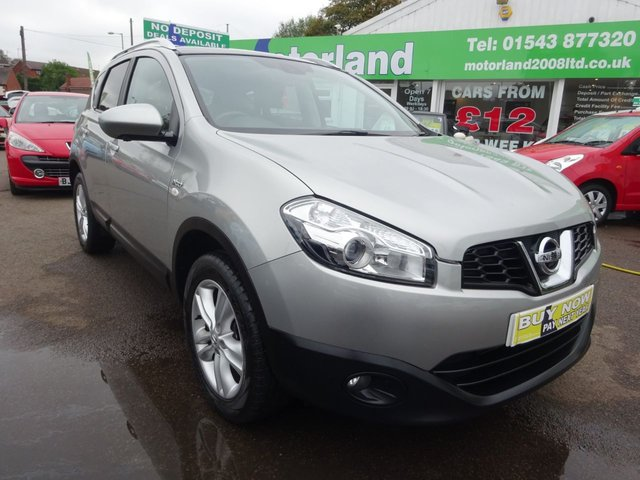 USED 2012 12 NISSAN QASHQAI 1.5 N-TEC PLUS DCI 5d 110 BHP £0 DEPOSIT FINANCE DEALS AVAILABLE....SAT NAV....REAR VIEW CAMERA....PANORAMIC GLASS ROOF