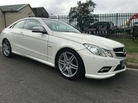 2010 MERCEDES-BENZ E CLASS 2.1 E250 CDI BLUEEFFICIENCY SPORT COUPE WHITE/RED LEATHER  £9995.00