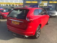 USED 2015 15 VOLVO XC60 2.0 D4 R-DESIGN 5d 188 BHP IN BRIGHT RED WITH 102000 MILES AND A FULL SERVICE HISTORY. APPROVED CARS ARE PLEASED TO OFFER THIS VOLVO XC60 2.0 D4 R-DESIGN 5d 188 BHP IN BRIGHT RED WITH 102000 MILES AND A FULL SERVICE HISTORY,THE CARS IN GREAT CONDITION AND THE LEATHER/SUEDE COMBINATION SEATS AND A FULL VOLVO SERVICE HISTORY SERVICED AT 18K,38K,58K,76K AND 102K A GREAT XC60 AT VERY SENSIBLE MONEY.