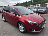 USED 2015 65 FORD S-MAX 2.0 TITANIUM TDCI 5d 177 BHP Black leather, 7 seats, panoramic glass sunroof, Sat Nav, heated memory seats ++