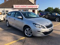 USED 2014 64 PEUGEOT 308 2.0 BLUE HDI SW Active 5 door Diesel Estate
