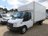 2013 FORD TRANSIT 2.2 TDCI 350 LWB LUTON 125 BHP WITH ONLY 18,309 MILES £14995.00