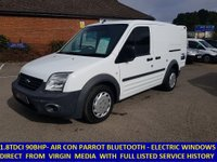 2012 FORD TRANSIT CONNECT 200 90BHP WITH AIR CON & ELECTRIC PACK FROM VIRGIN MEDIA £4595.00
