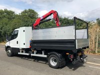 USED 2016 16 IVECO DAILY 70C17 3.0 170BHP 7TONNE TIPPER WITH HIAB/CRAIN +TOOLBOX+HMF535 CRAIN/HIAB+