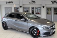 USED 2013 63 MERCEDES-BENZ A CLASS 2.0 A45 AMG 4MATIC 5d 360 BHP HALF BLACK LEATHER SEATS + FULL MERCEDES BENZ SERVICE HISTORY + COMAND SATELLITE NAVIGATION + BLUETOOTH + XENON HEADLIGHTS + 18 INCH ALLOYS + HEATED FRONT SEATS + DAB RADIO + PARKING SENSORS